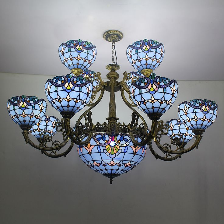 67 best chandelier images on pinterest crystal chandeliers blue color tiffany stained glass chandelier glass tiffany lamp view high quality antique tiffany aloadofball Image collections