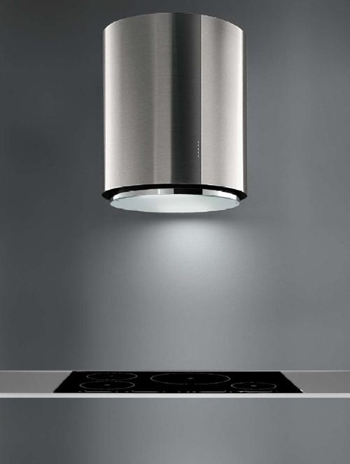 Minimal kitchen detail, extractor by Futuro Futuro (US for Falmec) _