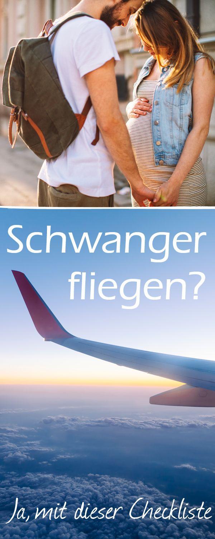 In welcher Schwangerschaftsphase man unbesorgt ins Flugzeug steigen  darf und was beim Fliegen in der Schwangerschaft zu beachten ist.