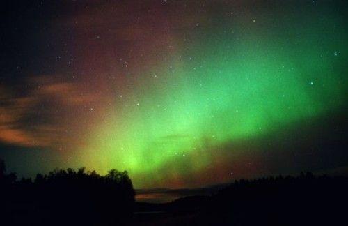 Prachtig lichtverschijnsel, hoog in Zweden.