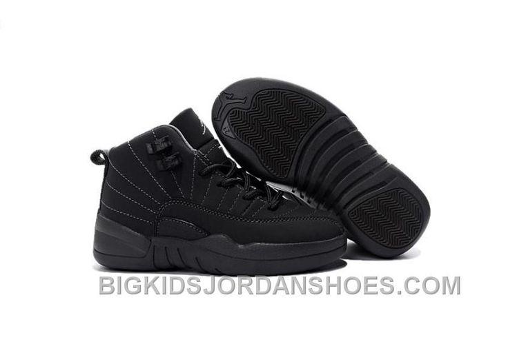 http://www.bigkidsjordanshoes.com/2016-nike-air-jordan-12-xii-kids-basketball-shoes-all-black-antileather-child-sneakers-discount.html 2016 NIKE AIR JORDAN 12 XII KIDS BASKETBALL SHOES ALL BLACK ANTI-LEATHER CHILD SNEAKERS DISCOUNT Only $85.00 , Free Shipping!