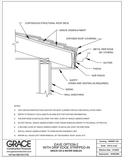 Drip Edge And Grace Ice And Water Shield Assembly