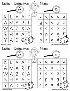 9 best letter detectives images on pinterest writing activities and alphabet activities. Black Bedroom Furniture Sets. Home Design Ideas