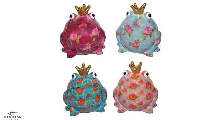 Spaarpot King Frog Flowers