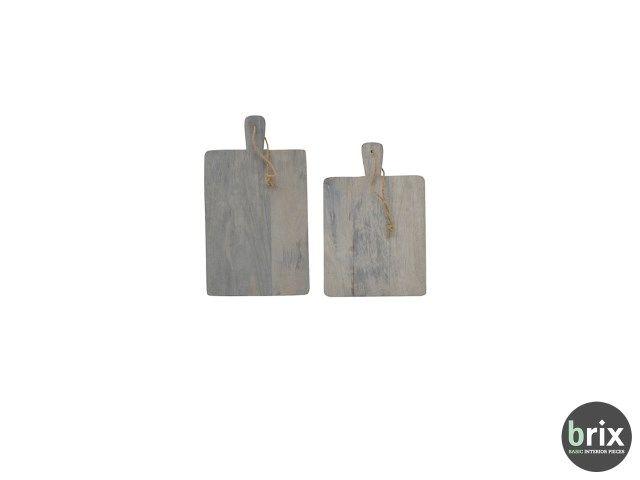 kaasplanken van het merk Brix koop je bij deleukstemeubels.nl. Mooi vergrijsd hout, mooie ronde vorm en prachtig in je keuken of op je tafel. Heerlijke hapjes serveer je op deze hippe planken. De set bestaat uit twee planken van 3x38x47cm en 3x25x36cm. Ook leuk om cadeau te geven!