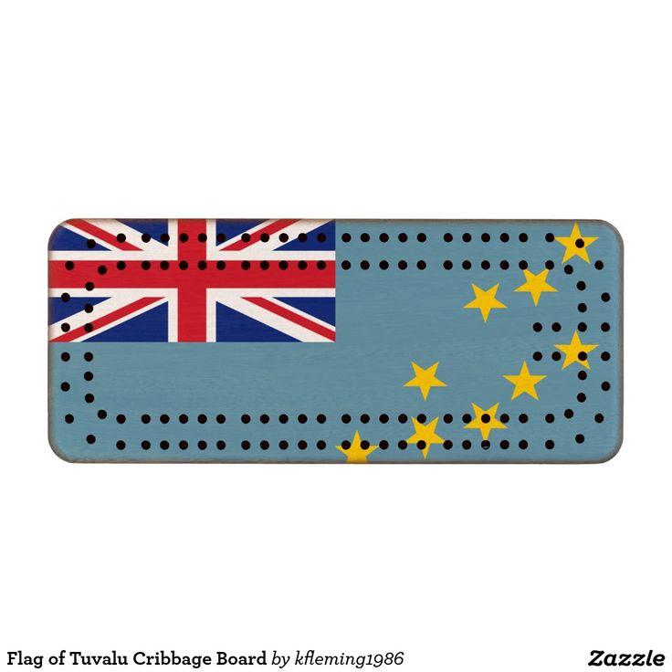 Flag of Tuvalu Cribbage Board