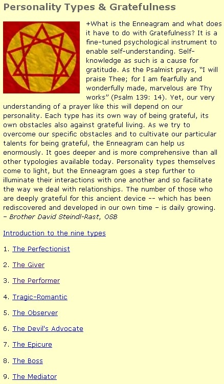 Personality Types (Enneagram) & Gratefulness okay, I love this! Check out the enneagram! It's so interesting!