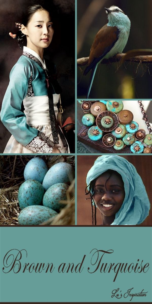 BROWN AND TURQUOISE ~~