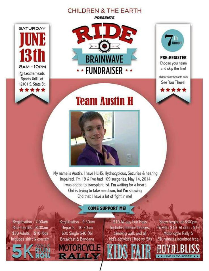 Fundraiser for Austin and many others !  Don't forget to pre register Team Austin H