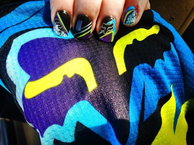 Fox racing motocross nails inspired by my jersey