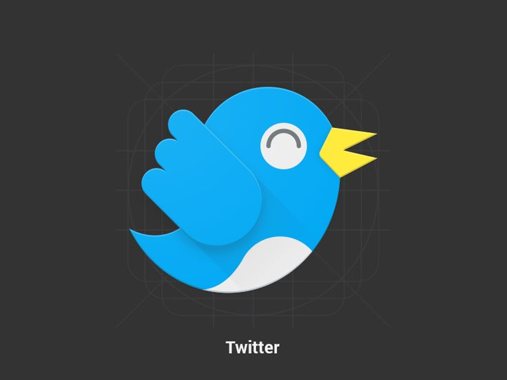 Twitter - Redesign - Material Design Icon by Samy