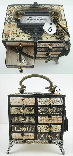 Oh my goodness... Adorable! Laura Carson at 'Alpha Stamps News' blog; Matchbox Chest Tutorial