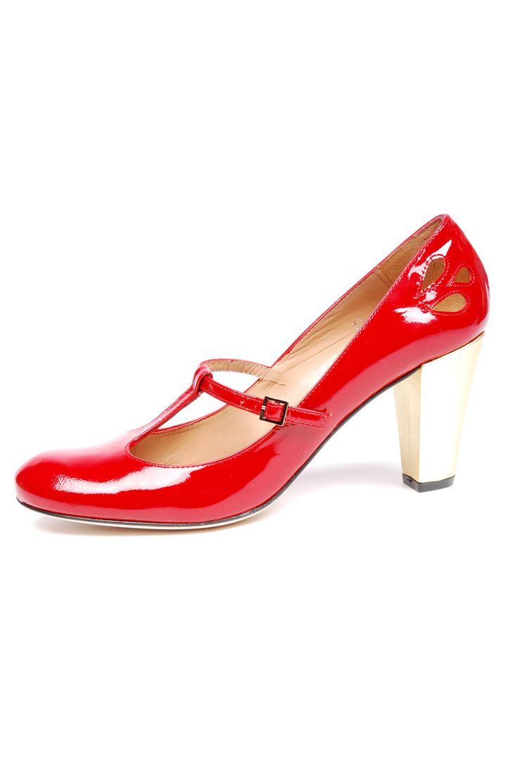 {Red Patent Heels} Ellips