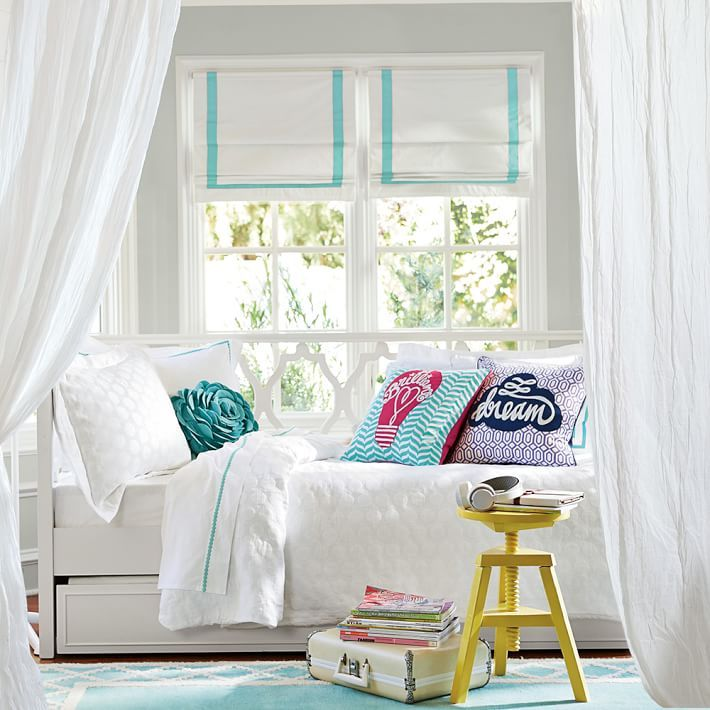 Small Bed Under Window Pottery Barn Kids In 2019 Girls