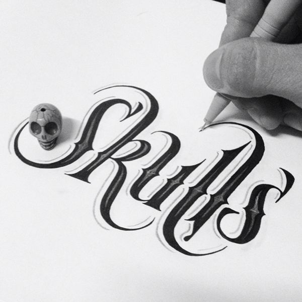50 Inspiring Examples of Hand-lettering - Skulls - hand-lettering design