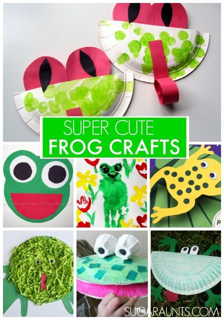 Super cute frog crafts for kids  | In China? try www.importedFun.com for Award Winning Kid's Science |