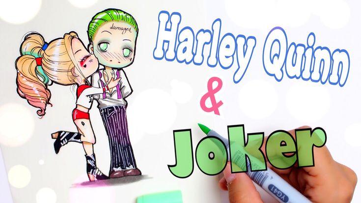 How to Draw HARLEY QUINN & JOKER || Chibi Style✍️