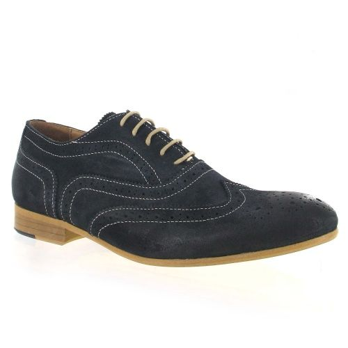 Men's Navy Suede Lace Up Classic Brogue, Was £120, Now £96 #mensshoes #wedding