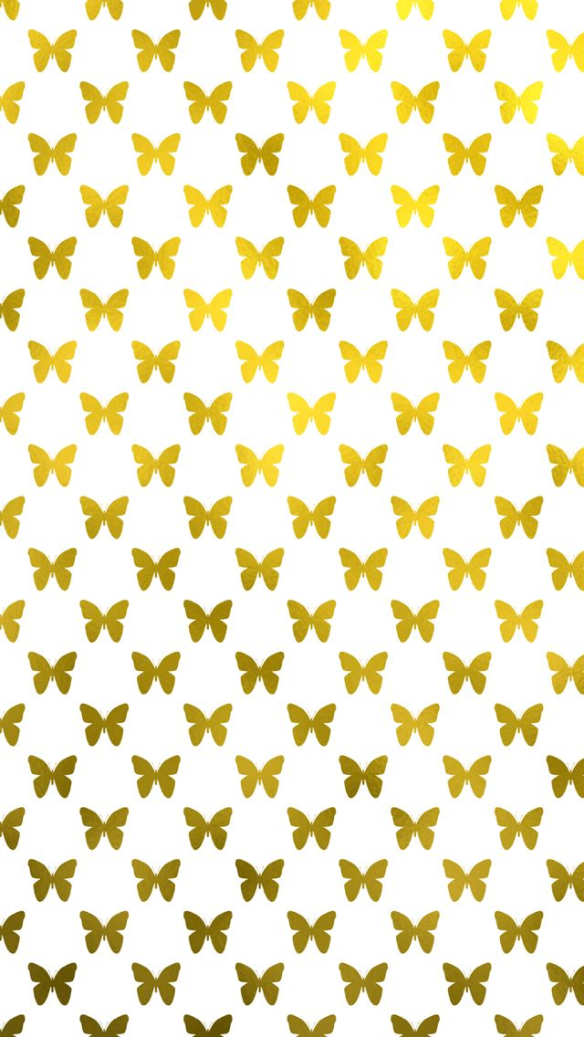 Free Metallic Gold Butterfly iPhone Wallpaper for iPhone 5 and iPhone 6