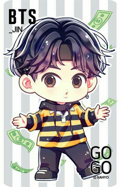 BTS Chibi JIN GO GO CSAHYO