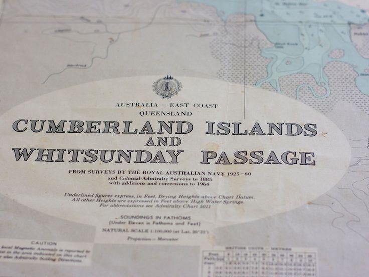 Whitsunday island 1975 nautical chart