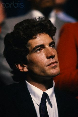 John Fitzgerald Kennedy Jr. endorses American Governor of Massachusetts and Democratic candidate Michael Dukakis in his campaign for the pre...
