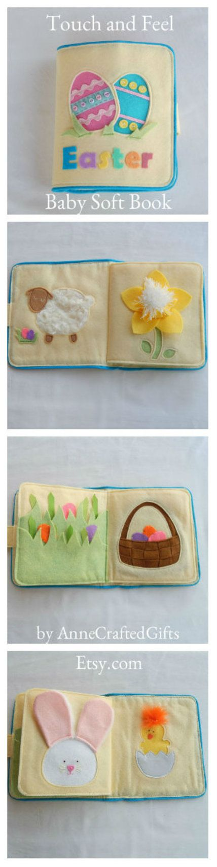 This unique quiet book is a cute gift idea for your little one's Easter basket. A fun touch and feel sensory book for a baby. #AnneCraftedGifts