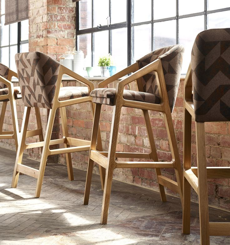Alfie Bar Stools, part of the Alfie collection designed by Sean Dare for Knightsbridge Furniture, have been designed with a generous seat and back to allow for maximum comfort.