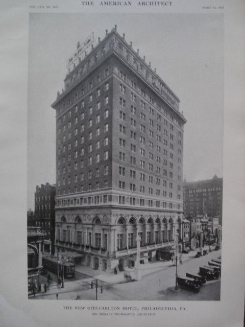 New Ritz-Carlton Hotel , Philadelphia, PA, 1915, Mr. Horace Trumbauer