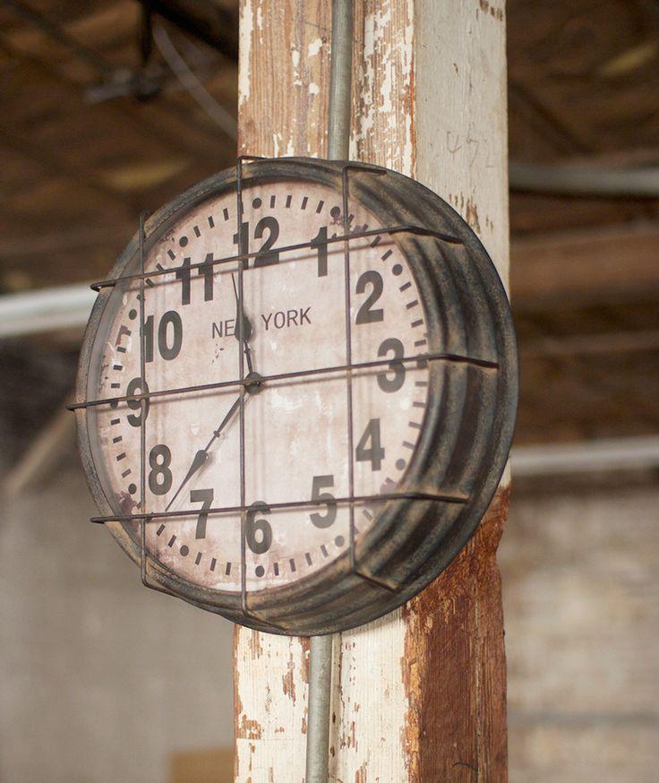 Vintage Industrial Gymnasium Clock