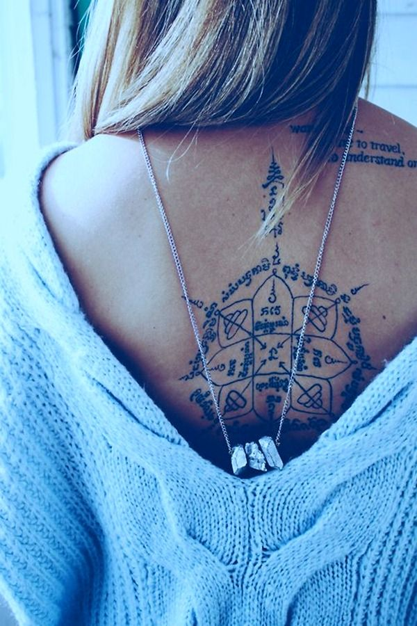 46 cool back tattoos for women