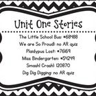 Kindergarten Reading Street Unit AR Quiz Posters  Great way to display AR Unit AR quizzes for students!...