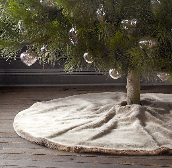 Luxe Faux Fur Tree Skirt | Luxe Faux Fur | Restoration Hardware