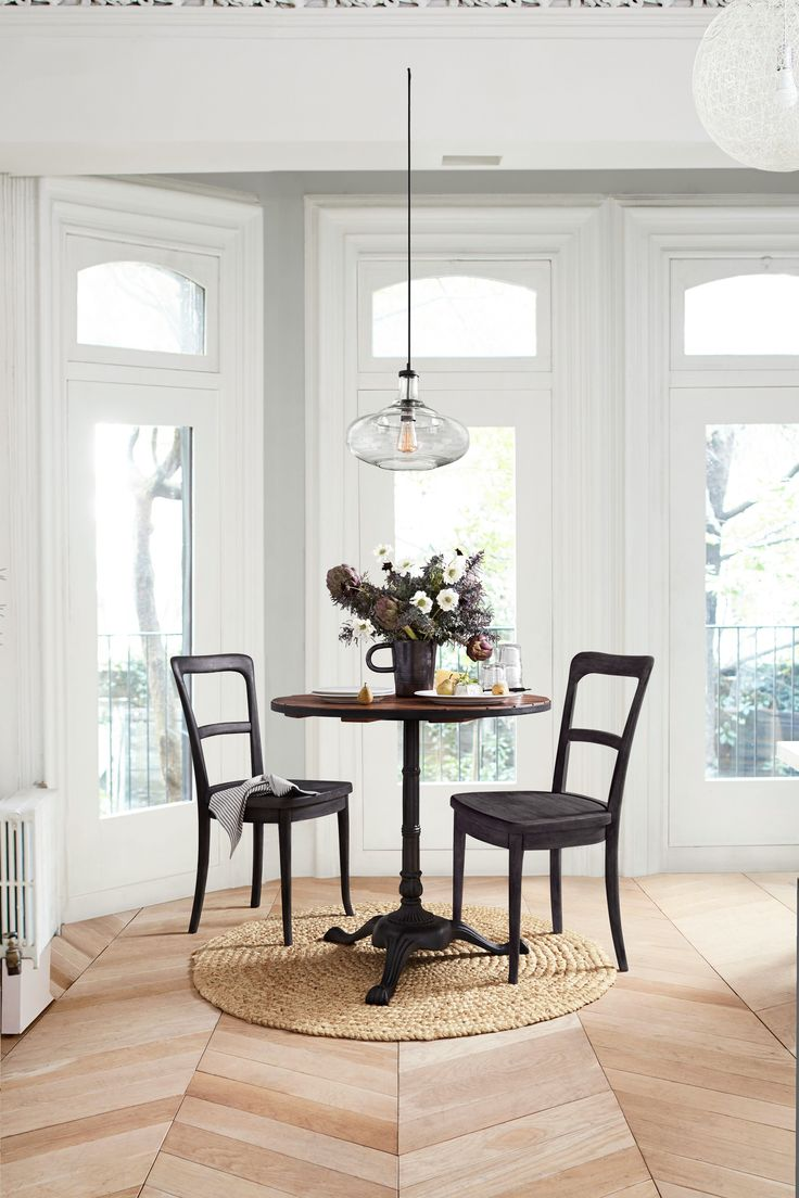 Awesome pottery barn dining room ideas 1 white farmhouse dining - This New Small Spaces Pottery Barn Collection Is Just What Your Tiny Home Needs