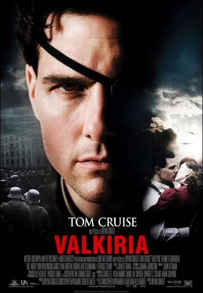 Valkiria (2008). Dir: Bryan Singer. El coronel el Coronel Claus von Stauffenberg es el cerebro de la operación Valkiria que intenta acabar con el régimen nazi matando a Hitler. El plan no sale como es esperado y el coronel se ve más implicado de lo que esperaba. En #BibUpo https://athenea.upo.es/record=b1452436