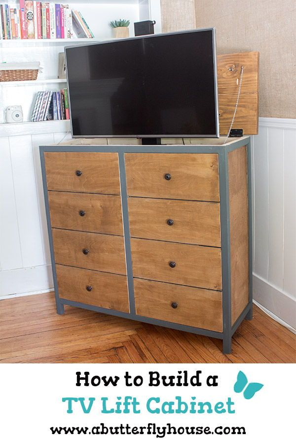 How To Build A Diy Tv Lift Cabinet Tv Lift Cabinet Diy