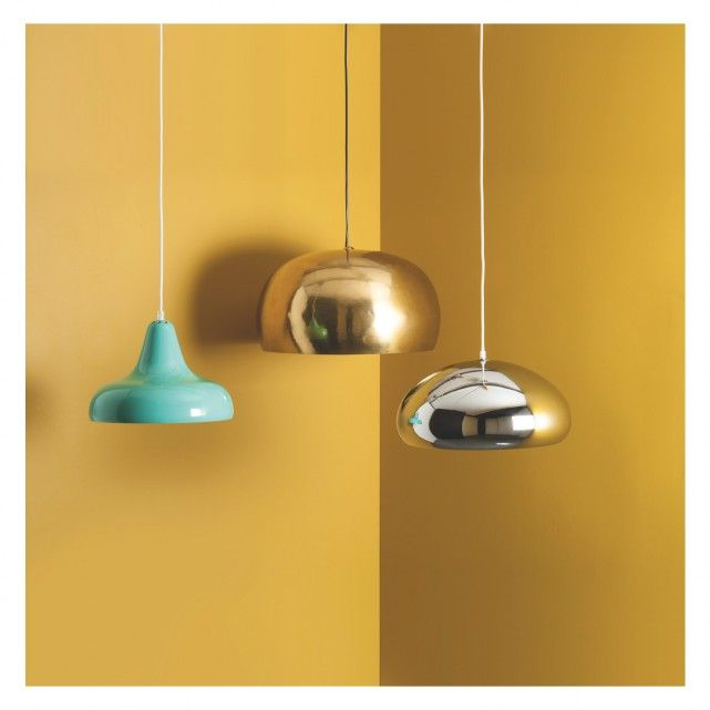 MARTEAU Large brass metal ceiling light | Buy now at Habitat UK