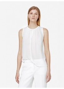 MANGO | Pleat Front Blouse Milk