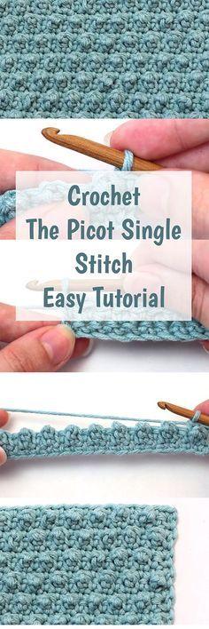Crochet Picot único ponto - grátis, fácil e passo a passo vídeo tutorial