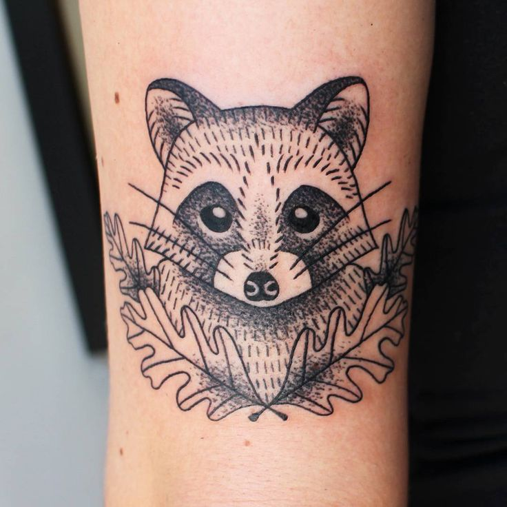 """473 Likes, 4 Comments - Jessica Channer  (@jessicachanner) on Instagram: """"Little raccoon buddy for Gabriella. Thanks!  #tattoo #tattoos #tattoosofinstagram #inkstagram…"""""""