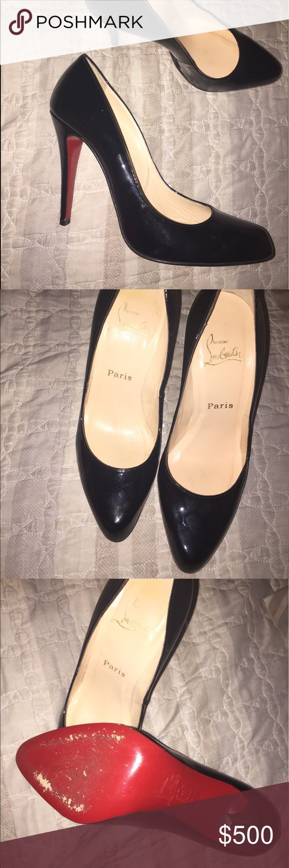 Christian Louboutin Black Patent Heels Used. Shoes Heels