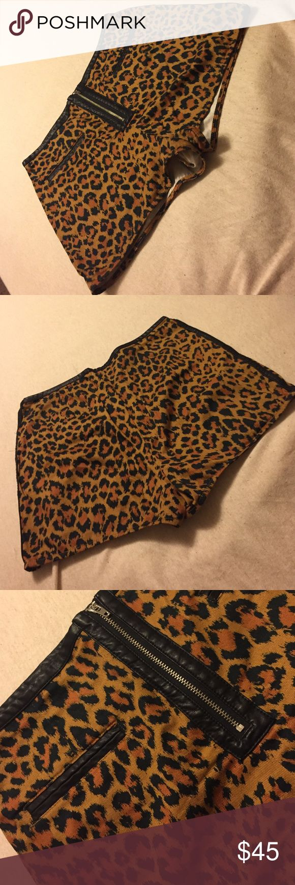 Leopard High Waist Shorts Leopard High Waist Shorts. My favorite shorts..it pains me to sell them. ☹️😭 Great for the summer or winter time. silence + noise Shorts