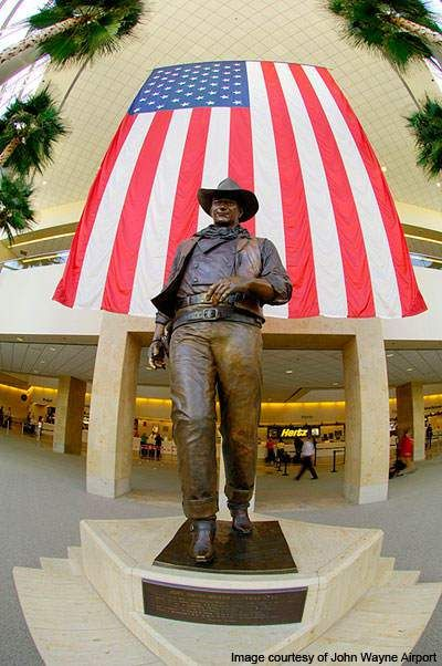 Welcome, pardner! Larger than Life Statue of the Duke at Orange County's John Wayne Airport (SNA) #travel