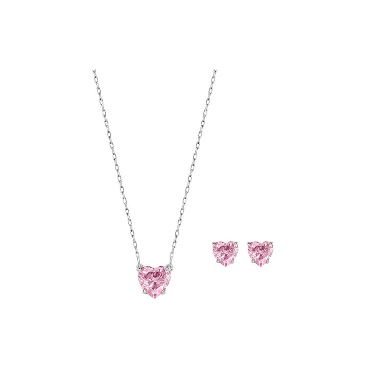 "Swarovski ""ATTRACT"" Set #Pendant #Earrings #Set #Crystals #Pink #SpringSummer2016 #JewelleryDesigner #Swarovski #Jewelry #Heart #Love"