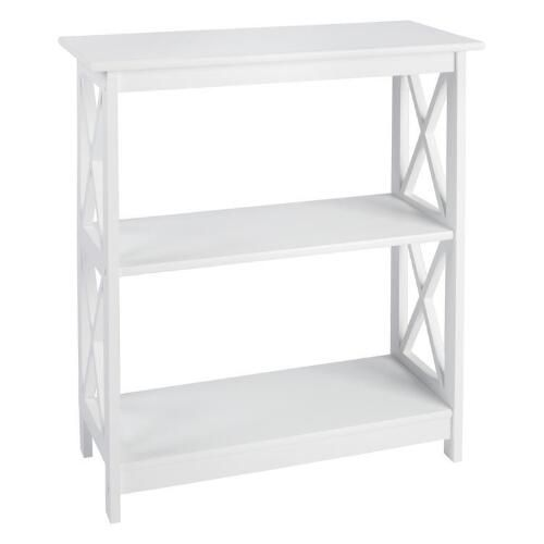 Our stylish X-side bookcase is a brilliant way to organize your home. There's plenty of space to store games and toys or display pictures and collectibles along the shelves.