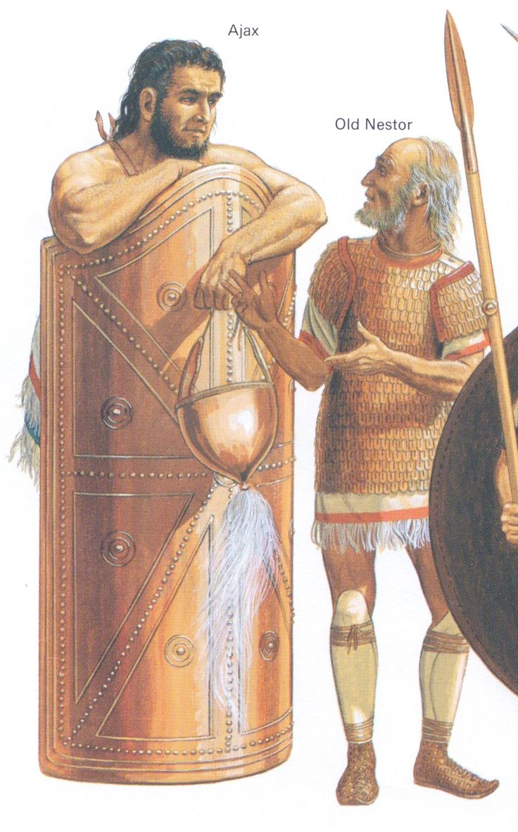 The heroes of The Trojan War - Great Ajax & Nestor - Peter Connolly (Troy/The Iliad of Homer/Shield of Ajax)