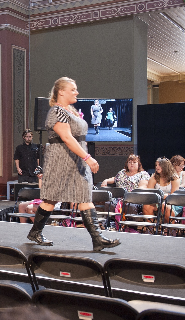 Riley Strutting her Stuff down the Catwalk  Featuring clothes from Te Kiero