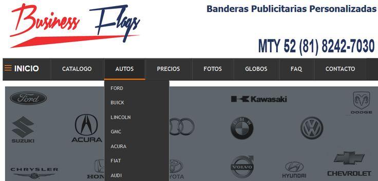 Banderas Publicitarias Marcas de Autos www.businessflags.mx