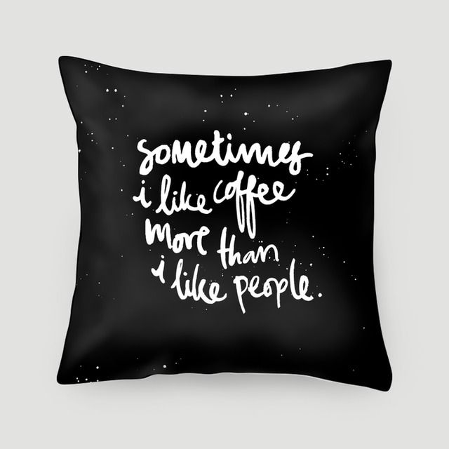 Pillow 40x40 cm (with insert) | I Love Coffee More by Elpple | Made from canvas linen, stuffed with dacron fill, and finished with concealed zipper. Pillow covers are available on their own or with pillow filling. #pillows #cushions #arts #prints #etsy #artwork #gift #design #home #decor #love #interior #trends #unique #photography #ideas #photo #inspiration #diy