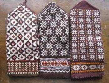 Latvian knitted mittens